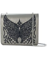 Just Cavalli - Embroidered Butterfly Shoulder Bag - Lyst