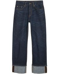 Burberry - Relaxed Fit Marble-wash Jeans - Lyst