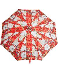 Burberry - Graffiti Archive Scarf Print Folding Umbrella - Lyst