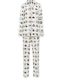 Prada - Pongé Pyjamas - Lyst