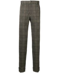 Paolo Pecora - Checked Slim-fit Trousers - Lyst