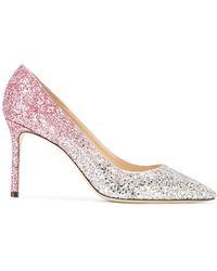Jimmy Choo - Glitter-embellished Romy 85 Court Shoes - Lyst