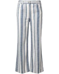 Zimmermann | Striped Cropped Trousers | Lyst