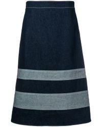 Marni - A-line Denim Skirt - Lyst