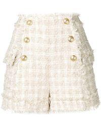Balmain - Button Detail Shorts - Lyst