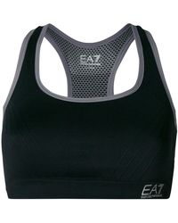 EA7 - Logo Crop Top - Lyst