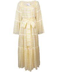 Lisa Marie Fernandez - Floral Flared Long-sleeve Dress - Lyst