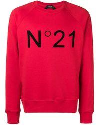 N°21 - Sweatshirt mit Logo - Lyst