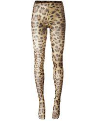 Dolce & Gabbana - Leopard Print Tights - Lyst
