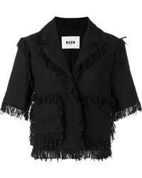 MSGM - Fringed Short-sleeve Jacket - Lyst