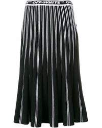 Off-White c/o Virgil Abloh - Pleated Knit Skirt - Lyst