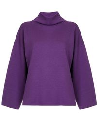 G.v.g.v - Milano Ribbed Bow High Neck Sweater - Lyst