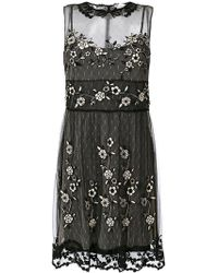 RED Valentino - Embroidered Mesh Mini Dress - Lyst