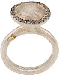Rosa Maria Pavé Set Plate Ring