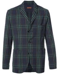 Aspesi - Checked Blazer - Lyst