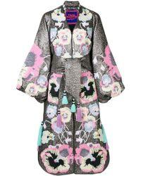Yuliya Magdych - Pansies Embroidered Kaftan Dress - Lyst