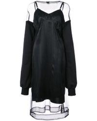 Vera Wang - Sheer Midi Dress - Lyst