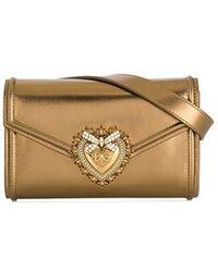 92fb67e4de52 Lyst - Dolce   Gabbana Sacred Heart Evening Bag