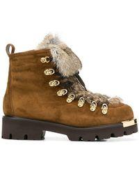 Baldinini - Fur Lining Mountain Boots - Lyst