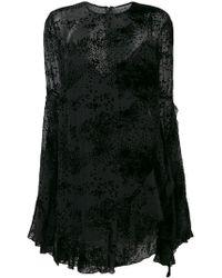Alex Perry - Long-sleeve Flared Mini Dress - Lyst