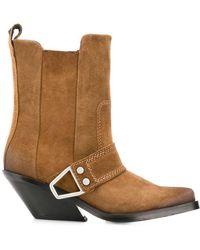 DIESEL - Western Block Heel Boots - Lyst