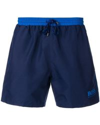 BOSS - Swim Logo Shorts - Lyst