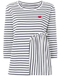 Chinti & Parker - Striped Heart Printed Top - Lyst