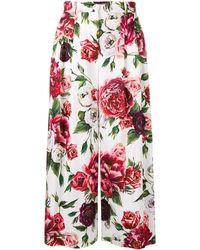 Dolce & Gabbana Peony Print Culottes