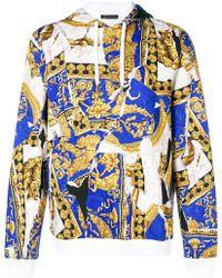 Versace - Baroque Print Hoodie - Lyst
