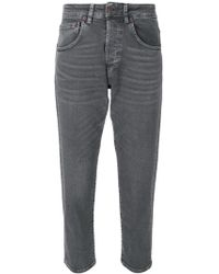 6397 - Cropped Fitted Jeans - Lyst