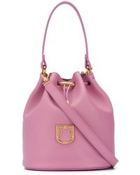 Furla - Corona Logo Plaque Bucket Bag - Lyst