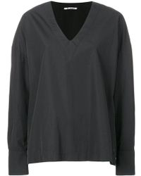 Barena - Oversized V-neck Top - Lyst