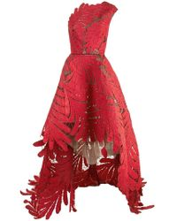 Oscar de la Renta - Asymmetrische Robe mit Stickerei - Lyst