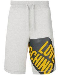 Love Moschino - Pantalones cortos de chándal con logo - Lyst