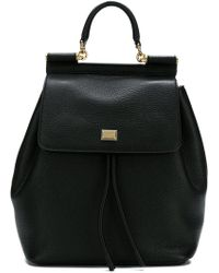 Dolce & Gabbana - Pebbled Sicily Backpack - Lyst