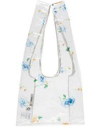Ganni - Floral Printed Transparent Tote Bag - Lyst
