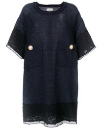 Faith Connexion - Oversized Pockets Shift Dress - Lyst