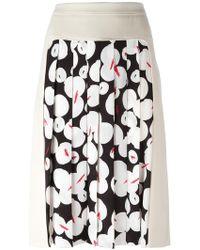 Jil Sander Navy - Pleated Panel Skirt - Lyst