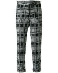 Thom Browne - Prince Of Wales Tweed Lowrise Skinny Trouser - Lyst