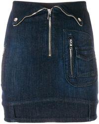RTA - Zipped Denim Skirt - Lyst