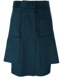 Vivienne Westwood Red Label - Asymmetric Pleated Short Skirt - Lyst