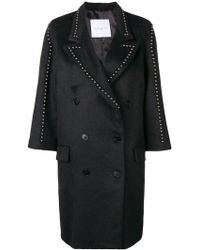 Gaëlle Bonheur - Studded Double Breasted Coat - Lyst