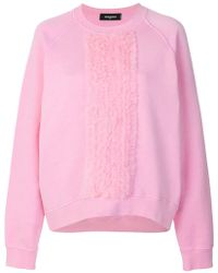 DSquared² - Ruffle Trimmed T-shirt - Lyst