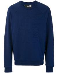 Love Moschino - Embossed Logo Sweatshirt - Lyst