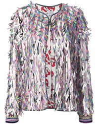 Ultrachic - Fringed Bomber Jacket - Lyst
