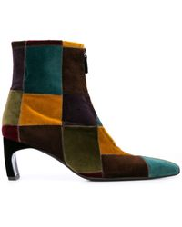Rosetta Getty - Patchwork Ankle Boots - Lyst