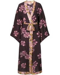 Anjuna - Long Printed Kimono - Lyst