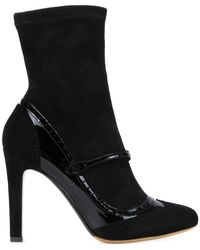 Tabitha Simmons | Kessie Leather and Suede Boots | Lyst