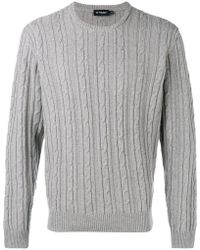Hackett - Cable Knit Sweater - Lyst