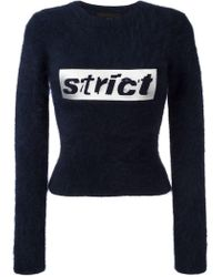 Alexander Wang - Strict Cropped Jumper - Lyst